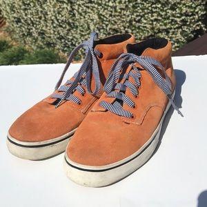 The Hundreds Orange Suede Hi Top Sneakers 12